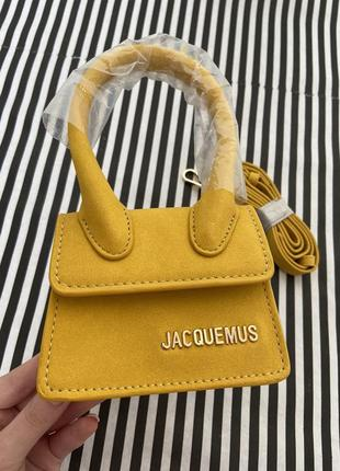 Микро сумка желтая jacquemus - маленькая сумочка