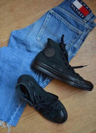 Converse черные высокие кеды оригинал конверс летние кроссовки брендовые