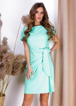 Экстравагантное женское платье ментол