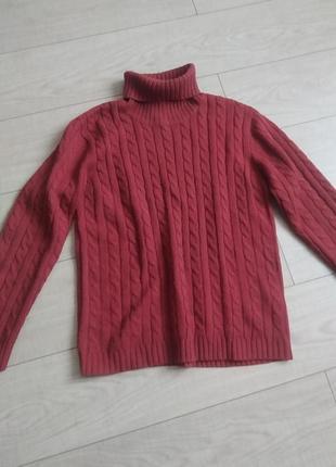 Светр гольф,теплий вязаний светр під шию