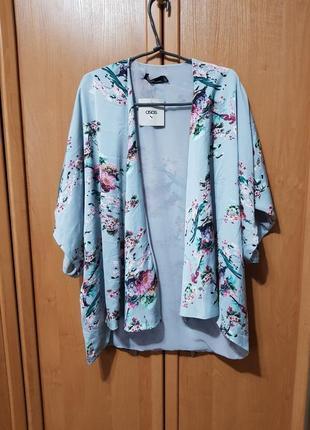Накидка, красивая своеобразная мятная накидка с цветами, блузка, летняя кофта оверсайз2 фото