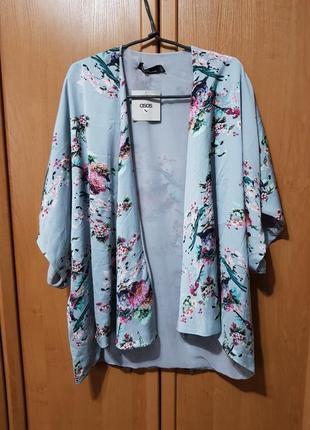 Накидка, красивая своеобразная мятная накидка с цветами, блузка, летняя кофта оверсайз3 фото