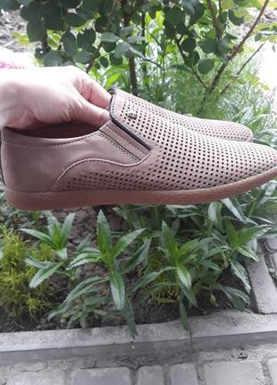 Туфли мужские на лето кожа