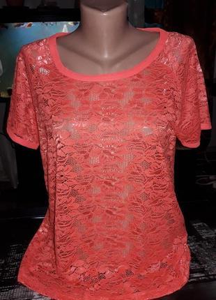 Блуза стрейч гипюр 48-50