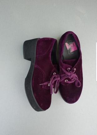 Велюровые туфли topshop p.36