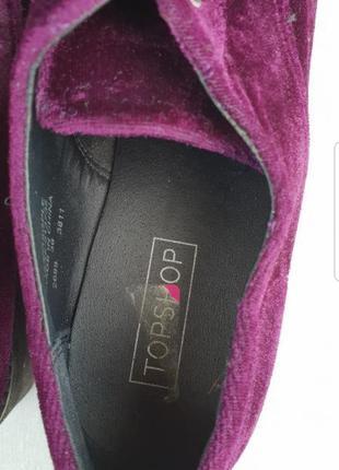 Велюровые туфли topshop p.364 фото