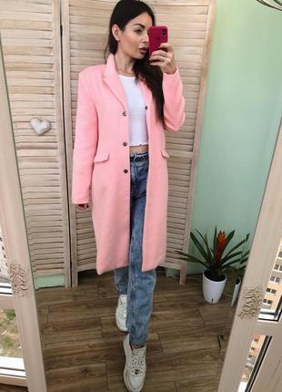 Розовое пальто missguided