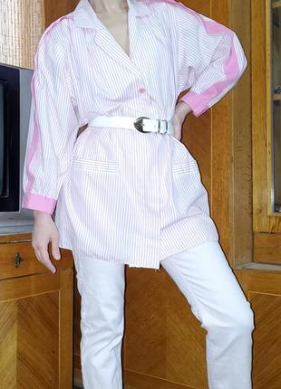 Винтажная блуза пиджак жакет  объёмный широкий рукав оверсайз плечи jean claire