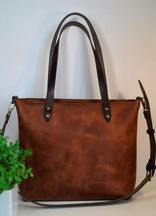 Женская кожаная сумка тоут