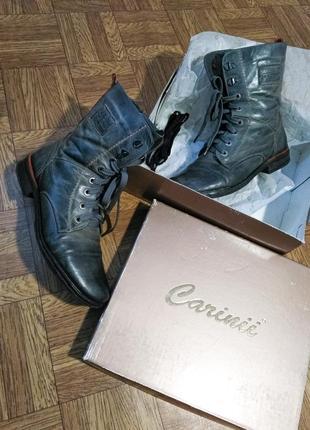 Кожаные ботинки vintage на шнуровке crazy horse