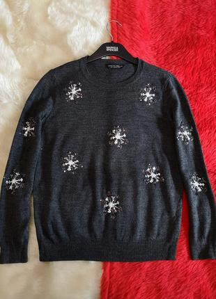 Новогодний свитер джемпер с пайетками dorothy perkins5 фото