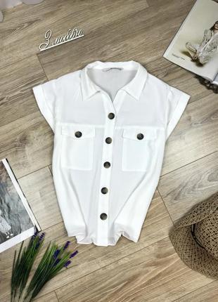 Tu крутая стильная рубашка с накладными карманами и контрастными пуговицами 😍