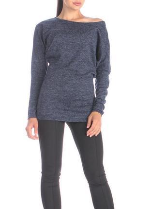 Лонгслив джемпер свитер вискоза синий