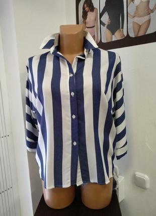 Рубашка женская ( полоска) -1