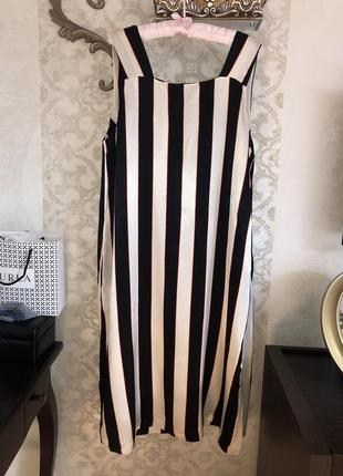 Стильное платье сарафан m&s р.18.