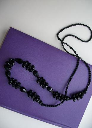 Чёрные бусы, ожерелье, новое
