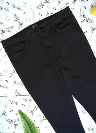 🎁1+1=3 плотные черные узкие зауженные джинсы с высокой посадкой f&f, размер 50 - 522 фото