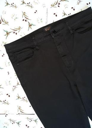 🎁1+1=3 плотные черные узкие зауженные джинсы с высокой посадкой f&f, размер 50 - 523 фото