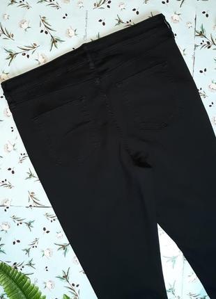 🎁1+1=3 плотные черные узкие зауженные джинсы с высокой посадкой f&f, размер 50 - 524 фото