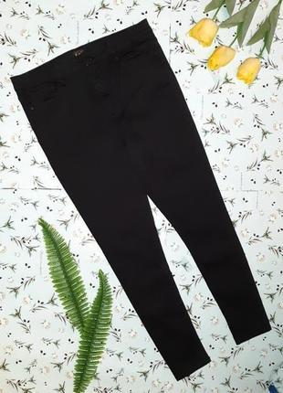 🎁1+1=3 плотные черные узкие зауженные джинсы с высокой посадкой f&f, размер 50 - 526 фото