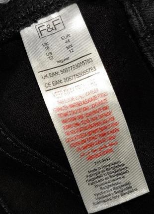 🎁1+1=3 плотные черные узкие зауженные джинсы с высокой посадкой f&f, размер 50 - 528 фото