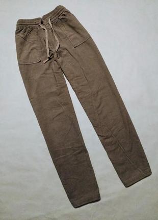 Брюки беж вельвет штаны бежевые вельветовые