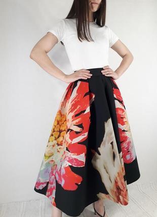Шикарная юбка миди от h&m