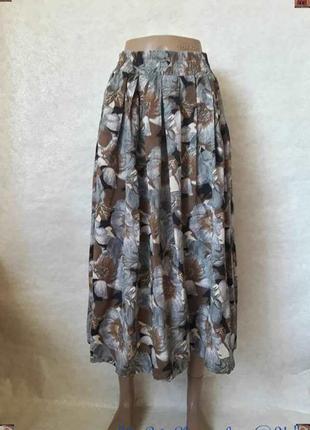 Новая пышная летняя лёгкая красочная юбка миди со 10 % вискозы, размер с-м