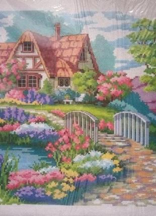"""Схема для вышивки крестиком """"дом с садом"""""""