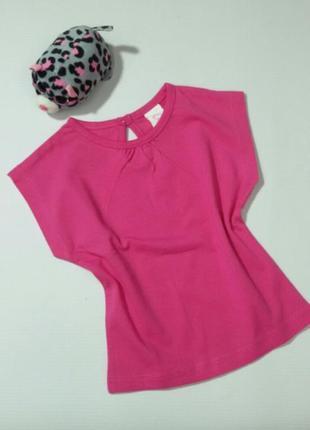 Розовая футболка на 3-6 месяцев