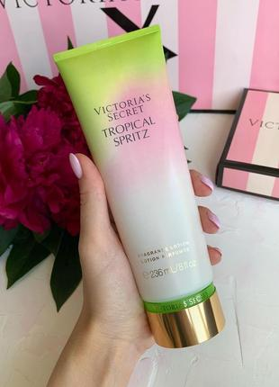 Лосьон для тела victoria's secret tropical spritz оригинал, лосьон виктория сикрет