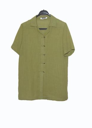 Женская блуза/рубашка с коротким рукавом  цвета хаки pierbe