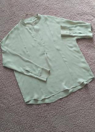 Бежевая блуза рубашка 100% шелк gerard  darel, р.40