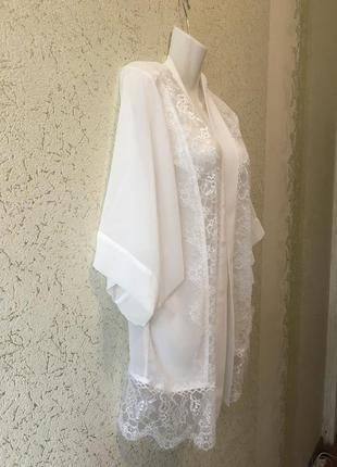 Легенький белоснежный полупрозрачный женский кардиган размер s4 фото