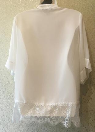 Легенький белоснежный полупрозрачный женский кардиган размер s6 фото