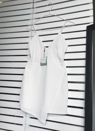 Белый комбинезон комбез ромпер с шортами1 фото