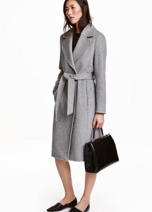 Пальто шерсть h&m