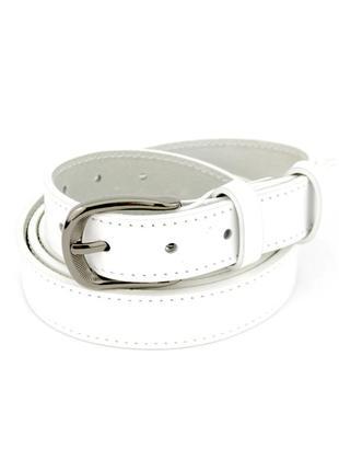 Женский кожаный ремень sf-251 white (130 см)