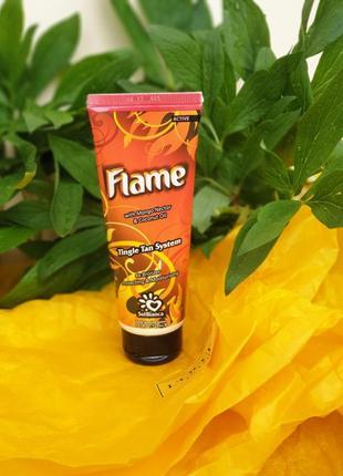 Крем для загара в солярии с бронзаторами и tingle-эффектом solbianca flame