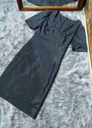 Платье футляр чехол из мокрого шелка