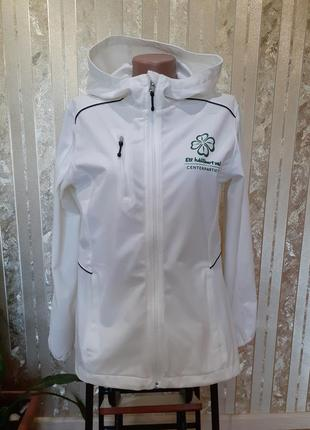 Clique термокуртка soft shell спортивная кофта с капюшоном на змейке мастерка