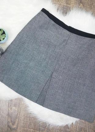 Базовая юбка серого цвета h&m | новая