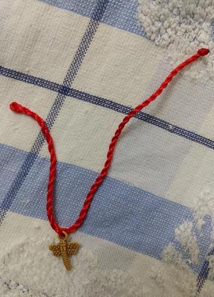 Красная нить со стрекозой