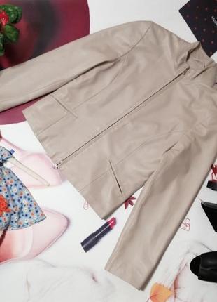 Крутая кожанная куртка madeleine, 100% натуральная кожа, размер 34 или xxs/xs