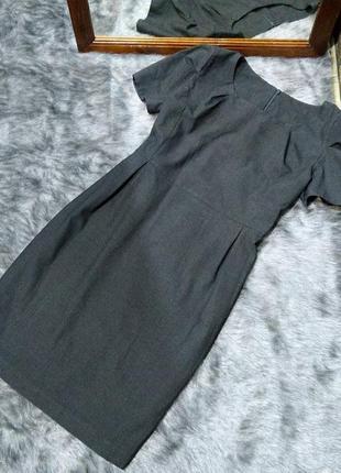 Платье футляр чехол из костюмной ткани