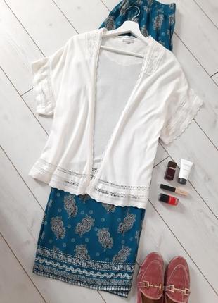 Moddison базовое болеро_кардиган в белоснежном цвете с кружевом