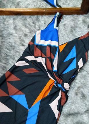 Платье с драпировкой и лифом на запах next2 фото