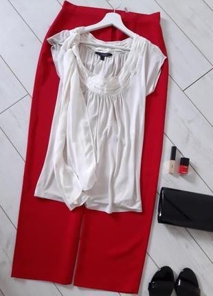 Женственная блуза с бантом_ткань и трикотаж