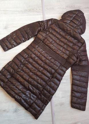 Новое термо пальто geographical norway куртка парка шоколадный глянец пуховик2 фото