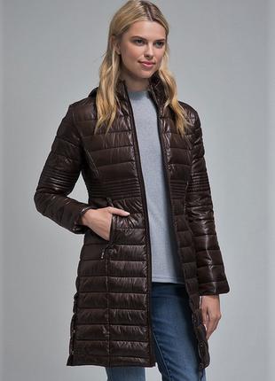 Новое термо пальто geographical norway куртка парка шоколадный глянец пуховик6 фото
